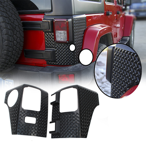 Jeep Wrangler Accessories 2017 >> Black Taillight Angle Rear Lamp Cowl Cover Pointer For Jeep Wrangler Jk 2007 2017 Car Exterior Accessories Auto Parts Decals Auto Parts Distributors