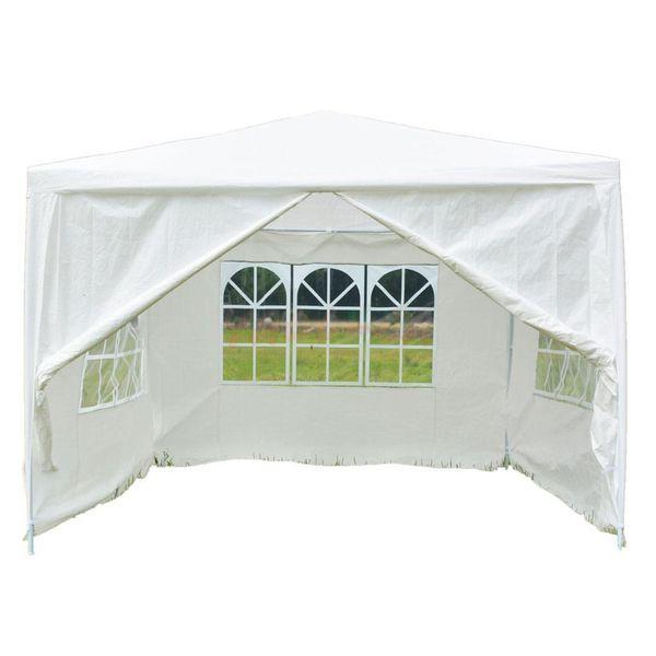 10 'x 10' Patio Fiesta Blanca Carpa Boda Gazebo Canopy Pavilion Evento al aire libre