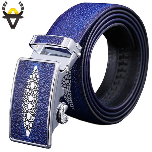 Cinturones de cuero genuino de los hombres de lujo Automático cinturón  hombre de alta calidad seond 1e27f0187b74