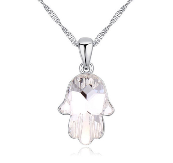 Made in China fashion jewelry Woman Originality Ornaments Using Swarovski Elemental Crystal Necklace The Distance of Missing Pendant