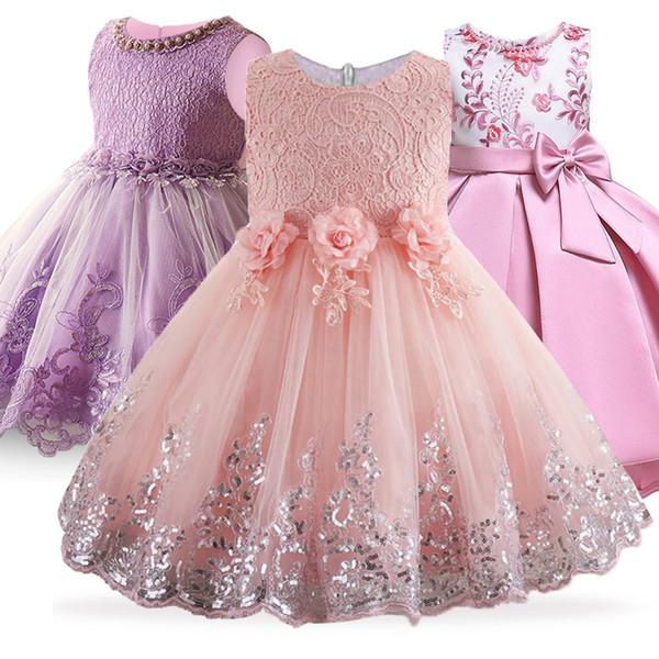 Großhandel 2019 Sommer Blume Mädchen Kleid Hochzeit Karneval Kostüm Kinder Kleider Für Mädchen Prinzessin Kleid Kleidung Kleidung 10 12 Jahr Von