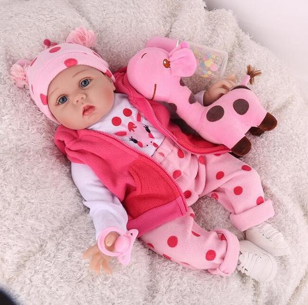 Silikon Reborn Bebek Bebekler 22 İnç 55cm boneca Bebek Lifelike Gril Playmate Çocuk Doğum Noel Playtoys