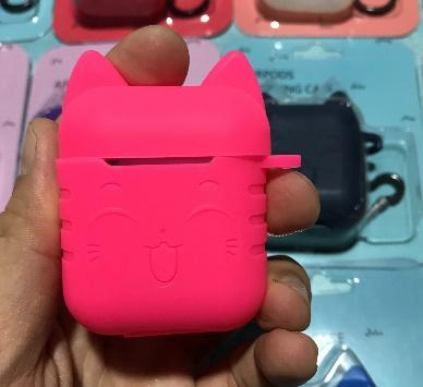 Силиконовый чехол для Apple Airpods беспроводной синий зуб чехол для наушников Soft Touch анти-потерянный защитный бокс