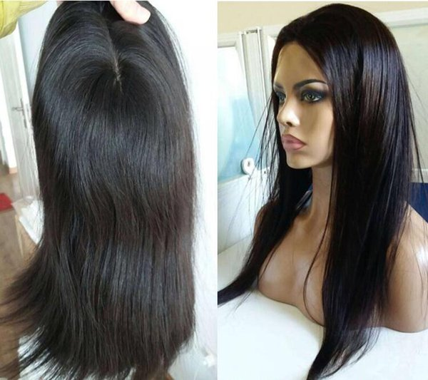 10A Grade Black Color Finest Malaysian Virgin Human Hair Silky Straight 4x4 Silk Base Jewish Wigs Kosher Wig The Best Sheitels Free Shipping
