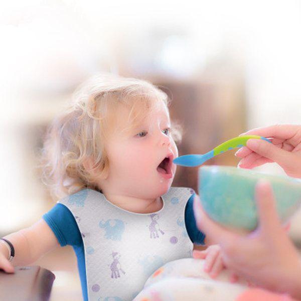Çocuk Tükürük Havlu 10 adet Çocuk Tükürük Havlu Bebek Önlüğü Karikatür Desen Özel Bebek Tek Önlüğü EEA1110-1