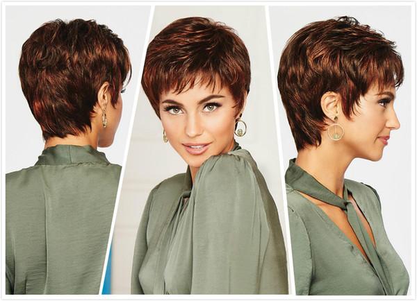 Sıcak satış peruk sıcak stil PERUK moda patlama herhangi bir yüz şekli bayanlar zarif mizaç PERUK uyacak kısa saç