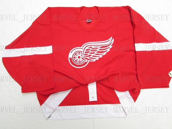 Cheap custom DETROIT RED WINGS HOME 6100 JERSEY GOALIE CUT 58 stitch add any number any name Mens Hockey Jersey