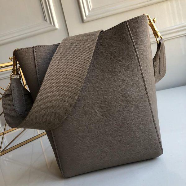 Women's shoulder bag trendy wild fashion designer design small soft grain pure calf leather detachable wool shoulder strap, inside hook buck