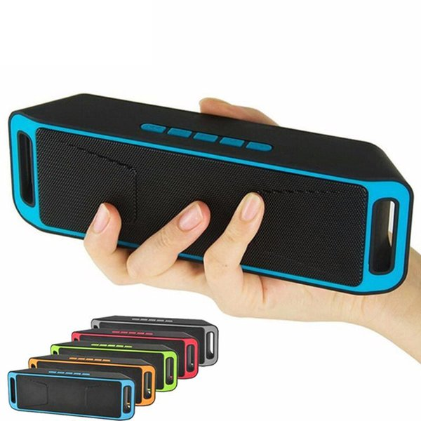 SC208 Hot Sell Mini Portable wireless Bluetooth Speakers Wireless Loudly Music Player Big Power Subwoofer Support TF USB FM Radio