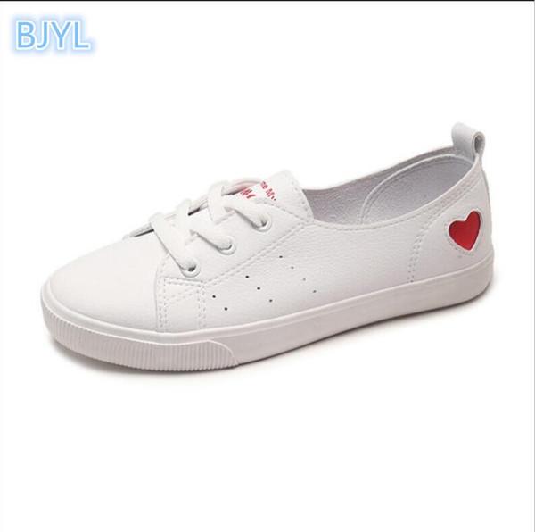 BJYL Маленькие белые туфли женские 2018 летние новые ботинки студенческого совета с плоским дном ленивые люди езда холст