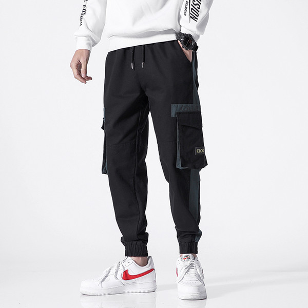 Pantalon de survêtement de poche Mode 2019 Harem Joggers Hommes High Fashion Urbain Streetwear Pantalon Slim Fit