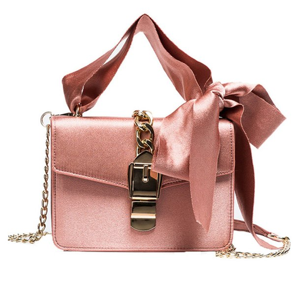 2019 Messenger Bags Mulheres Moda Cadeias Bolsas Bowknot Bolsa de Ombro Senhoras Designer De Marca Crossbody Bolsa Feminina
