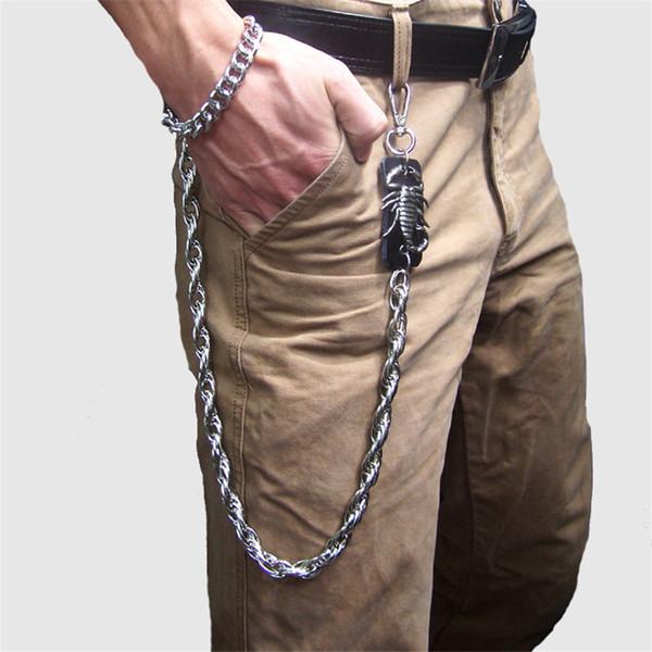 Fashionable Belt Punk Rock Silver Waist Accessories Best Quality Men's Punk Alloy Plating Key Jean Wallet Jean Pants Chain DR64