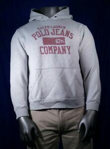 Vtg Polo Jeans Co New Hoodie Grey Pullover Hombres 039 s Talla Grande