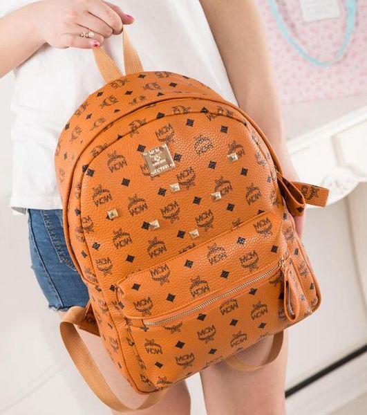 Zaini 19SS firmati fashion lady donna 5 colori di charms borsa zaino rosso, nero, blu, kaki, arancio