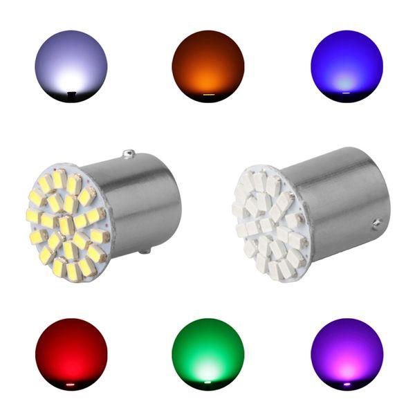 1156 22 SMD P21W BA15S LED Bulb Car Auto Front Lights Brake Lights Turn Parking Lamp Bulbs Hot Sale 12 V
