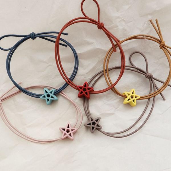 1 pc Dos Desenhos Animados Esfregar Estrela Headwear Geométrico Cordas de Cabelo Das Crianças Jovens Meninas Acessórios Para o Cabelo Crianças Elásticas Bandas