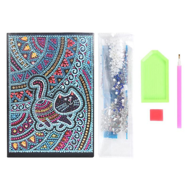 best selling DIY Special Shaped Diamond Painting Notebook Diary Book 60 Pages A5 Notebook Embroidery Diamond Cross Stitch Note Book XMAS Gift
