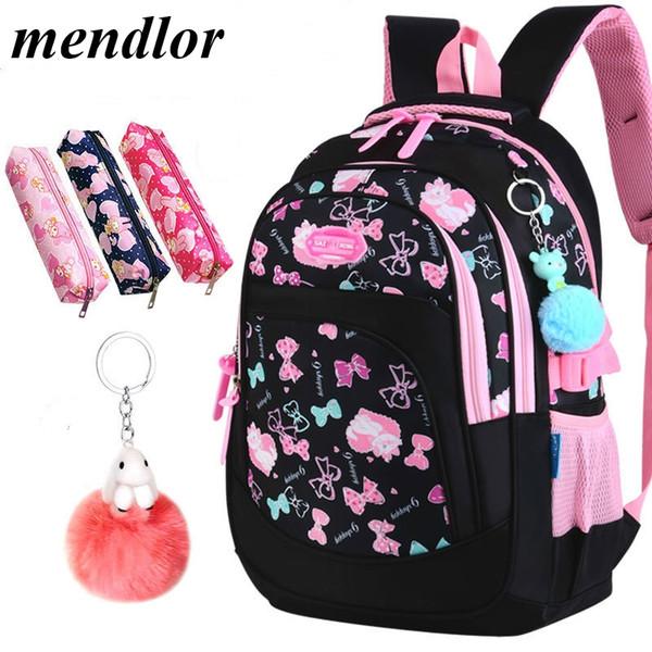 Çocuk okul çantaları kızlar ilköğretim okulu sırt çantaları çocuklar karikatür kedi baskı sırt çantaları çocuk prenses kesesi enfant