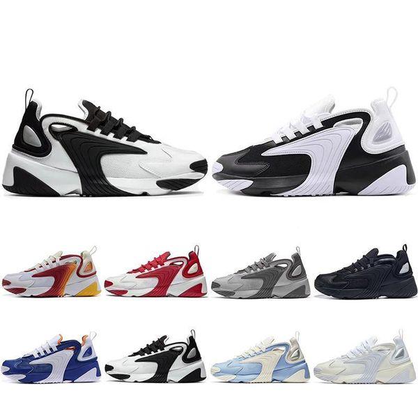 2019 Nouveau M2k Tekno Zoom 2k Zm 2000 Chaussures De Course Pour Hommes Femmes Triple Noir Blanc Bleu Orange Hommes Baskets Mode Baskets 36-45
