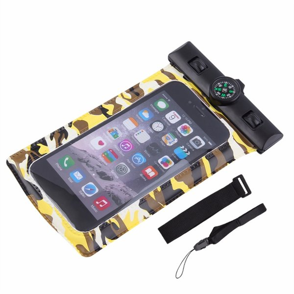 Universal Waterproof Phone Case,Multifunction CellPhone Dry Bag Pouch with Armband Feature Neck Strap for iPhone X/8 Plus Compas #159312