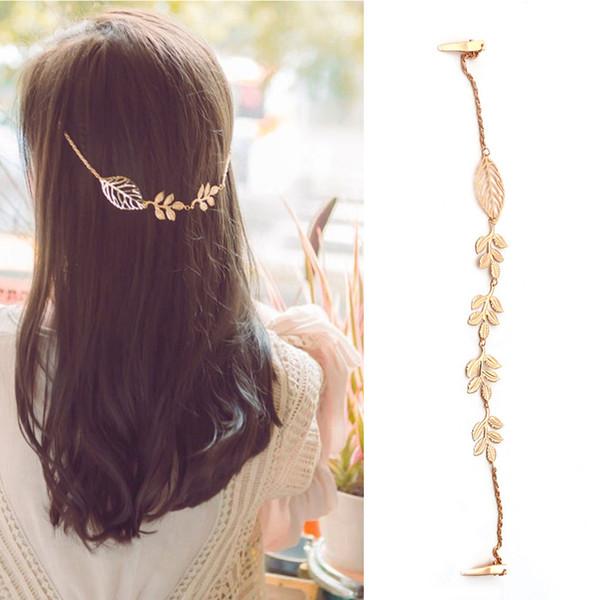 Fashion Women Crystal Rhinestone Chain Headband Hair Band Hair Clip Jewelry