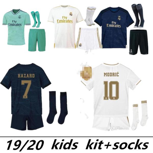 Yeni 2019 Real Madrid ev Futbol Formalar 19 20 Real Madrid ev Futbol gömlek çocuk kiti Modric ASENSIO VINICIUS JR ISCO Kroos Futbol forması