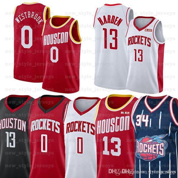 wholesale dealer e3fee c91e1 2019 NCAA Houston Russell 0 Westbrook Rockets Jersey James 13 Harden Hakeem  34 Olajuwon Basketball Jerseys Chris 3 Paul From New_2018_shops, $32.44 |  ...