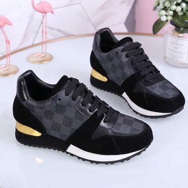 Женская обувь Кроссовки Спортивные на шнурках Run Away Sapaker Zapatos de mujer Модная обувь Женская W # 12 с Origin Box Chaussures de femmes Повседневная обувь