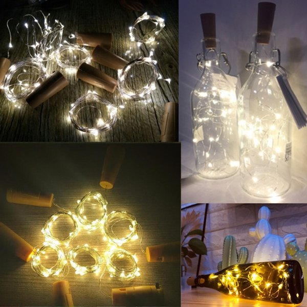 2m Led Garland String Diy Fairy Lights For Glass Craft Bottle New Year Christmas Valentines Wedding Birthday Party Decoration C19041701