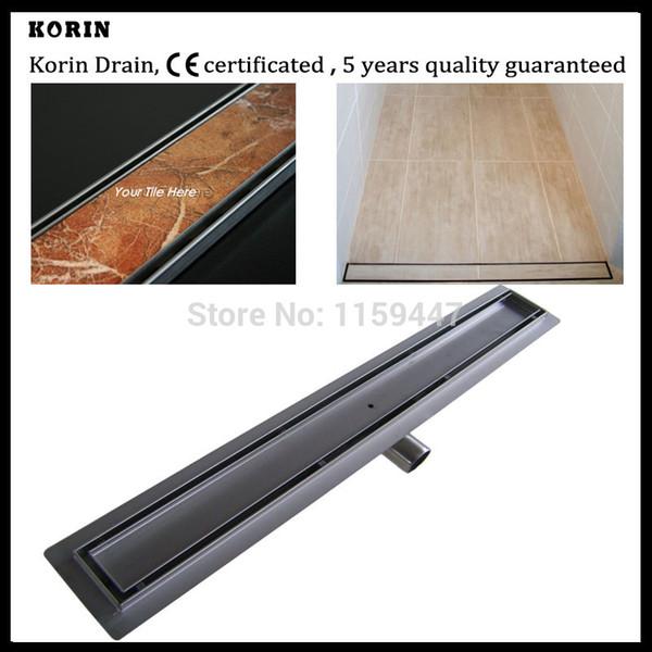 """top popular 900mm """"TILE INSERT"""" Stainless Steel 304 Linear Shower Drain, Horizontal Outlet Hidden Drain, Tile Insert Deodorant floor drain 2021"""