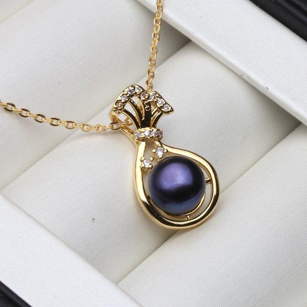 black spider pendant
