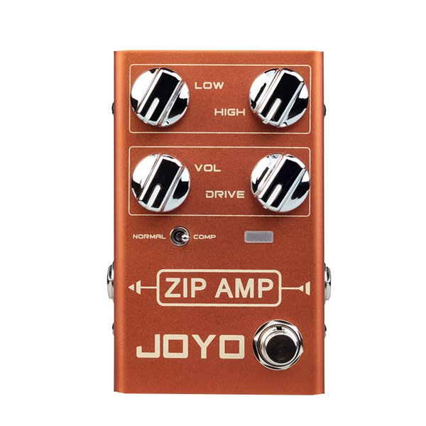 JOYO R-04 ZIP AMP Overdrive Electric Guitar Effect Pedal Strong Compression Gain Distortion Rock Monoblock Effects Processor Bass Effect Ped