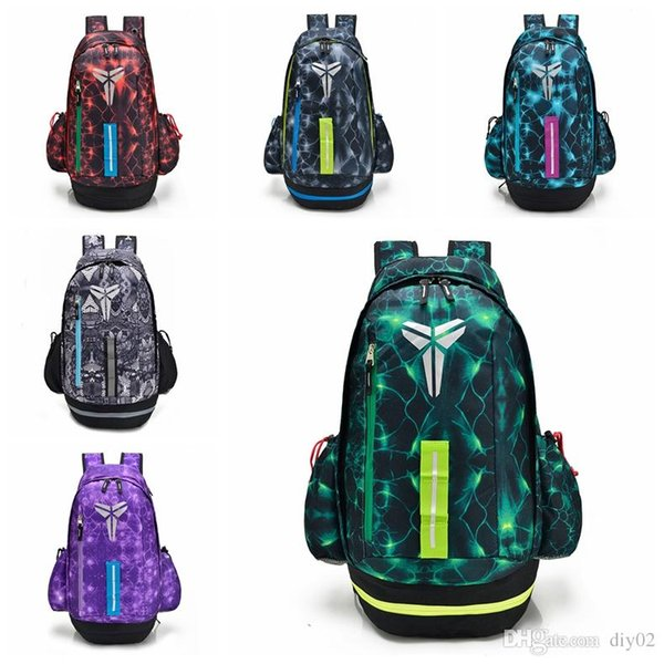 Wholesale Designer Backpack Kobe Home Purple Yellow Mamba Basketball Shoes Duffle Bags Women Mens High quality Travel School Sports Backpack