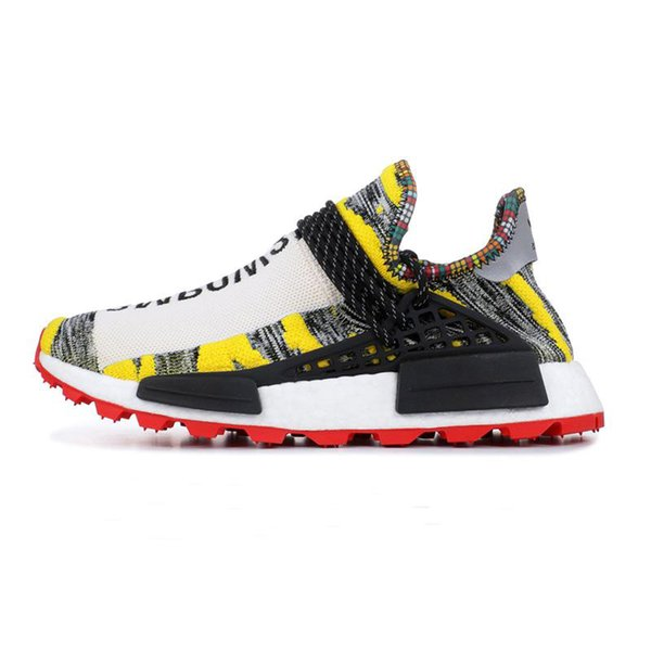 new style 9de9a e0a81 2019 Human Race Hu Trail X Pharrell Williams Nerd Men Running Shoes Black  White Cream SOLAR PACK Mens Trainers For Women Sports Sneaker From ...