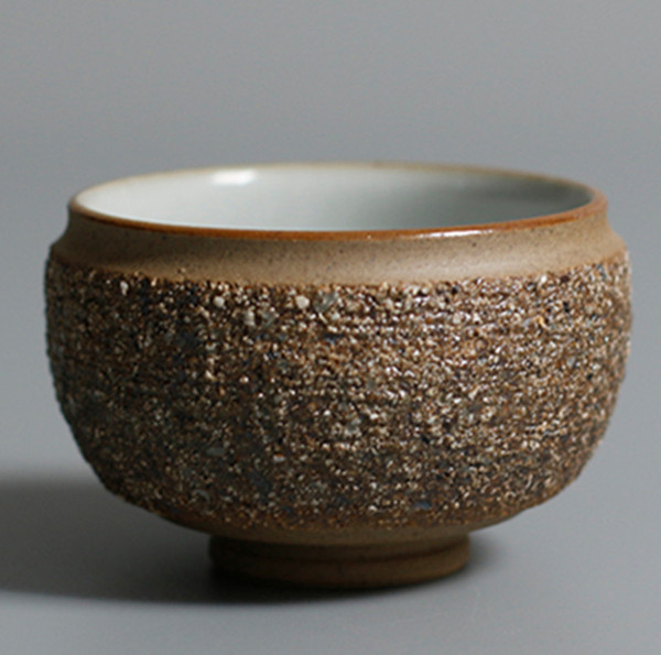 Retro greggio Ceramica Master Cup Ceramic Japanese Tea Bowl Hand Made calore Tazzine resistenti naturale Tazza di tè