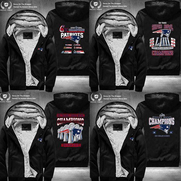 best website 27548 a7f0f 2019 Drop Shipping USA Size Men Women Unisex Fleece Zipper Hoodie  Streetwear DIY Jacket Coat Patriots Sweatshirt From Luxuryoutfit, $58.27    ...