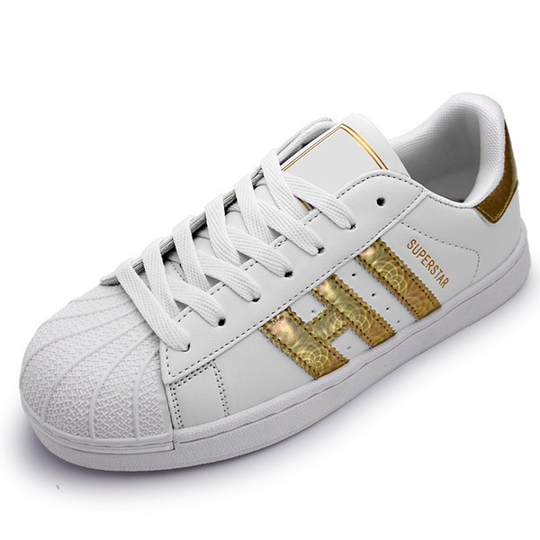 dorp shipping 25 colors super star Fashion Men Women Big Kids shoes Sneakers Casual Sport Leather shoe