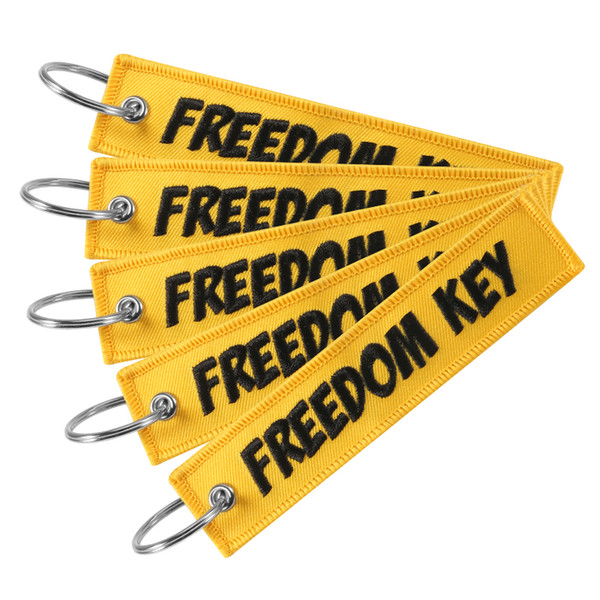 Fashion Freedom Key Chain Bijoux Keychain for Motorcycles and Cars Scooters Tag Embroidery Key Fobs Customized Keychain Bijoux