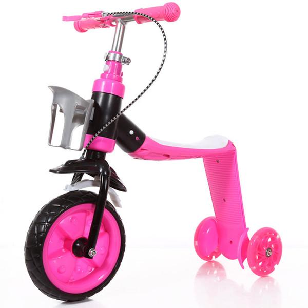 2 В 1 Дети скейтборд Scooter ходунки с колесами Многофункциональный Младенческая ездить на игрушки автомобиля 3 колеса велосипеда