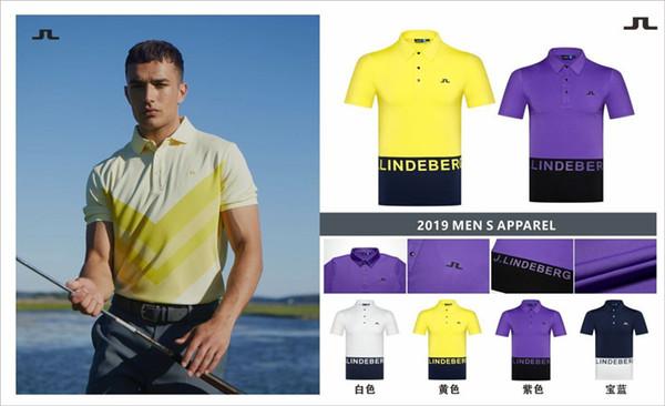 Erkekler seçim Boş gömlek Ücretsiz kargo kısa kollu DESCENTE Golf tişört 4Colors Golf giysi S-XXL spor giyim
