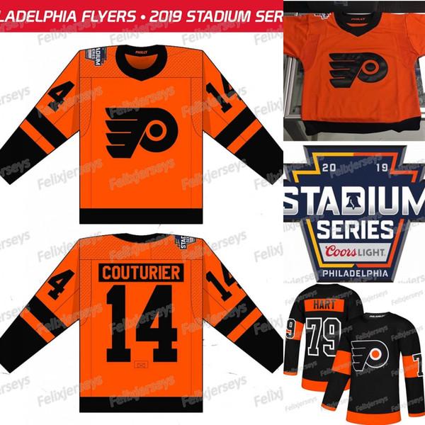 size 40 b9d63 cfd05 2019 2019 Stadium Series Philadelphia Flyers 14 Sean Couturier Jakub  Voracek Giroux Wayne Simmonds Carter Hart Ivan Provorov Nolan Patrick  Jersey From ...