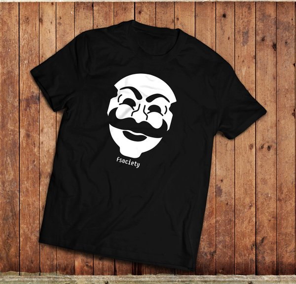Mr ROBOT, FSociety T-Shirt, TV Show, computer Hacking, Various colours, Annonymo Short Sleeve Plus Size t-shirt