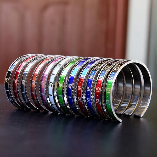 Tachimetro braccialetto moda aperto per uomo e donna quadrante digitale tendenza tendenza accessori classici bracciali per uomo donna