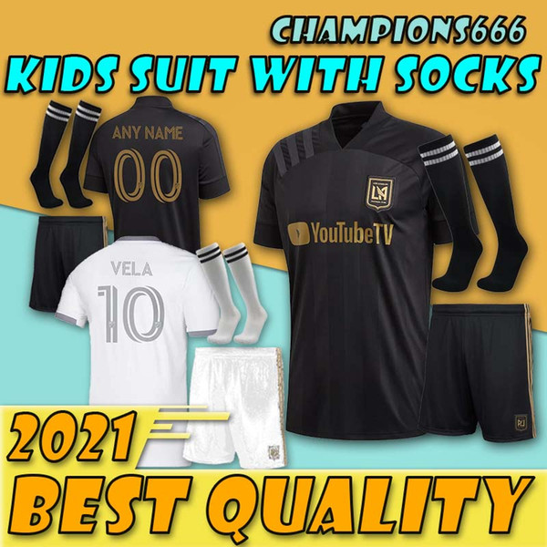 top popular kids boy kit 2020 2021 Los Angeles fc LAFC soccer Jerseys 20 21 MLS ZIMMERMAN GABER ROSSI CIMAN VELA CUSTOM FOOTBALL SHIRTS 2020