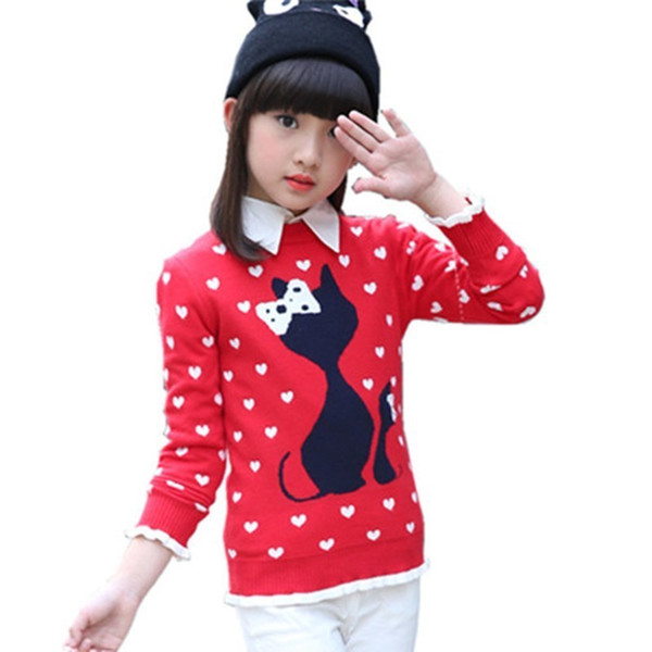 Girls Sweaters Autumn Winter Sweater For Girl Thicken Children Clothing Pull Fille Pullover Kids Clothes Knitting Baby Warm Tops