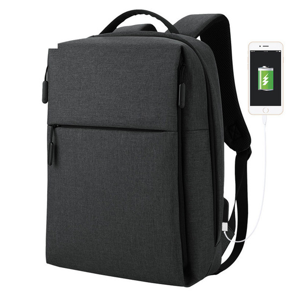 New Business 15.6 Inch Laptop Backpack Men Casual Notebook Bag For Male Backpack Usb Charging Oxford Waterproof Travel Backpack