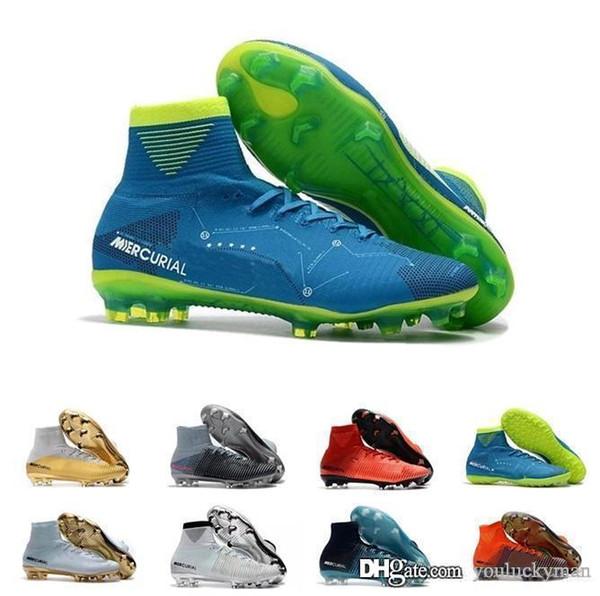 Nike Mercurial Superfly V Ronalro FG CR7 Cristiano Ronaldo Hombres Botas de fútbol Hombres Zapatos de fútbol 36-45 H171