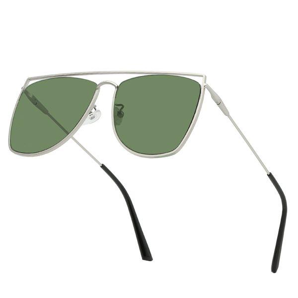 Personnalité masculine carré rond lunettes de soleil double cercle creux lunettes de soleil cadre en métal lunettes de soleil haut de gamme hommes et femmes lunettes HD lentille cadeau