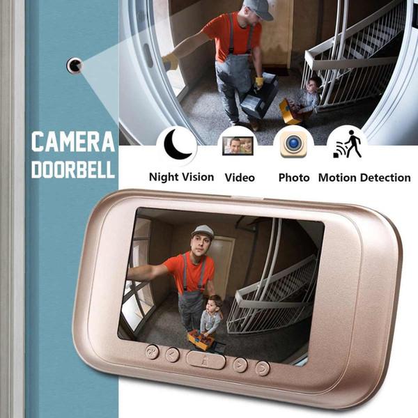 720P Night Vision Smart Home Vidéo sonnette 3.5 HD Electronic M10 Caméra Photo Vidéo Surveillance à la maison Anti-vol alarme 32G Record